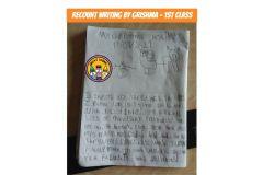 Grishma from Ms Bluett's 1st Class
