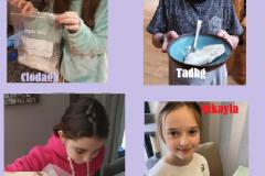 4th Class making ice cream