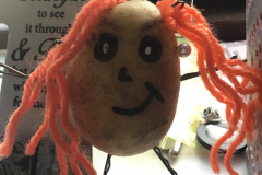 Niamh Maher from 6th Class created this potato head character from her novel