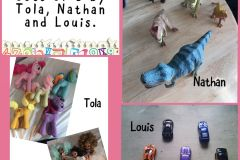 Sets of 5 by Tola, Nathan and Louis from Junior Infants