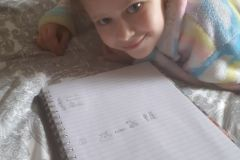 Grace Lawlor from 3rd Class made Hieroglyphics