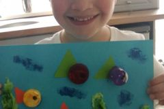Riley Nolan from Junior Infants responding to her virtual school tour