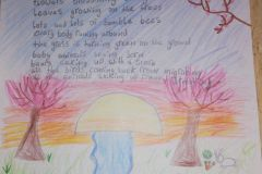 Sibéal O Neill from 4th Class wrote about springtime